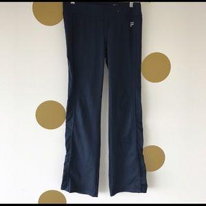 Fila small workout yoga pants navy stretchy